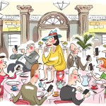 Algonquin Round Table after Al Hirschfeld